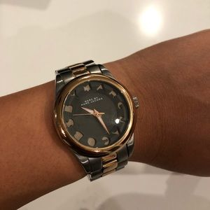 Marc Jacobs Rose Gold Charcoal Watch